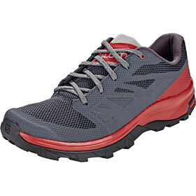 Salomon Outline Scarpe Uomo, ebony/red dahlia/frost gray